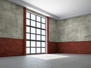 Empty hall with window