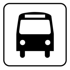 Bus Vektor Icon Button