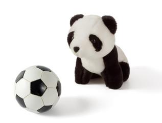 Little Plush Panda with Soccer Ball