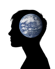 woman thinking about the earth