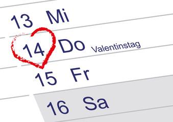 Valentinstag 14 Februar