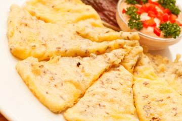 slices of polenta with sauce