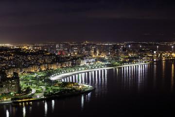 Downtown of Rio De Janeiro by night