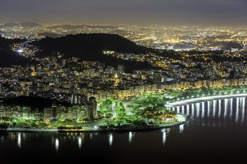 Center of Rio De Janeiro by night