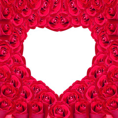 beautiful heart of red rose useful for some Valentine concept