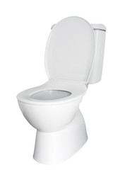 Toilet isolated on white