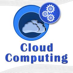 Cloud Computing Circles with text