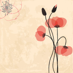 Canvas Prints Abstract Floral Poppy