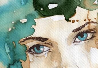 Keuken foto achterwand Schilderkunstige Inspiratie watercolor illustration