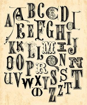 Vintage Alphabet