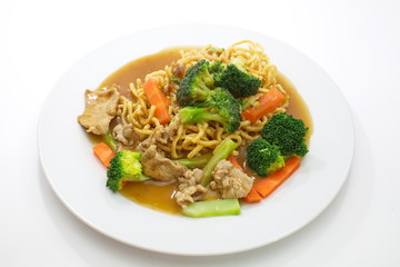 Chinese style deep fried yellow noodles
