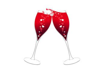 Champagne Flûtes  Wijnwinst