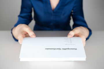 Homeopathic questionnaire