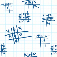 Seamless texture with tic-tac-toe.