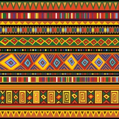 Photo Blinds Draw Ethnic Colorful Pattern Africa Art-Etnico Colori Arte Africa