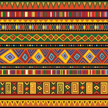 Ethnic Colorful Pattern Africa Art-Etnico Colori Arte Africa