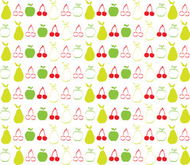 Cherry apple and pear wallpaper background