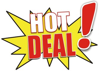 étiquette hot deal
