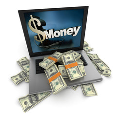 Online money, dollars