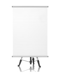 Square Flipchart on White Background.