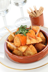 patatas bravas, spanish fried potatoes