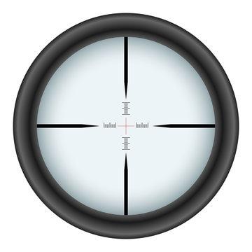 Rifle scope crosshair vector illustration