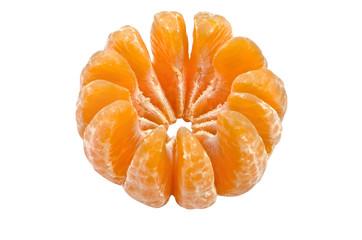 Mandarin, isolated over white
