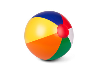 Colored inflatable beach ball