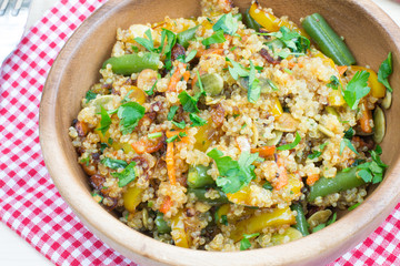 Stir-fry with quinoa