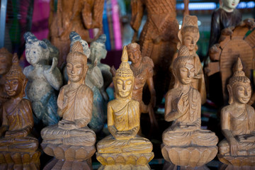 hand carving buddha's image.