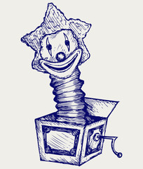 Jack in the box. Doodle style