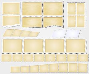 vector grunge stamps frames vintage