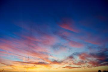 Scenic sunset backgroungd