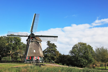 The windmill on the green hill