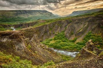 Fototapete - Glymur canyon