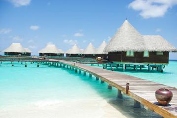 Watervilla& 39 s op tropisch eiland Malediven