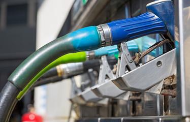 blue gas pump nozzles