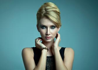 Natural portrait of beautiful blonde woman