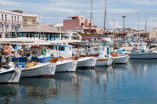 Marina of Ermoupolis at Syros island, Greece