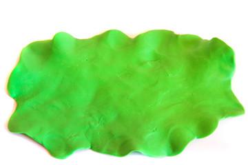 Plasticine green background