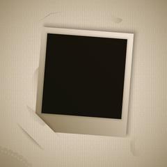 vintage polaroid frame for your object
