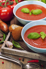 Traditional tomato soup