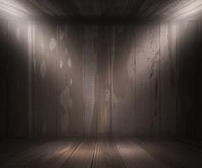 Gray Wooden Spotlight Room Background