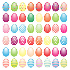 Big collection of Easter eggs as Easter elements