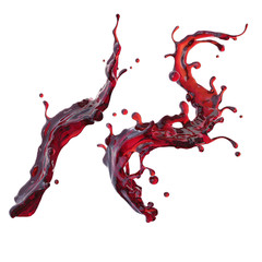 Wall Mural - cherry juice or red wine dynamic liquid splash