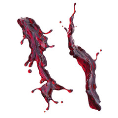Wall Mural - red wine or cherry juice dynamic liquid splash