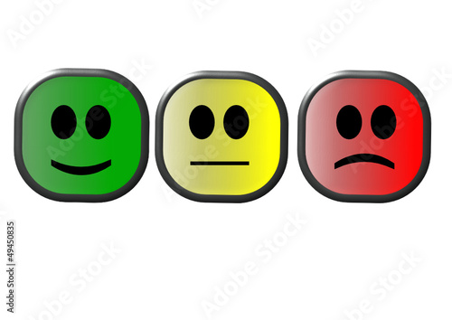 Smiley Rot Gelb Grün