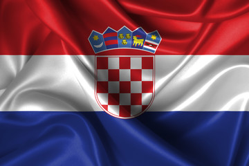 Wavy Flag of Croatia