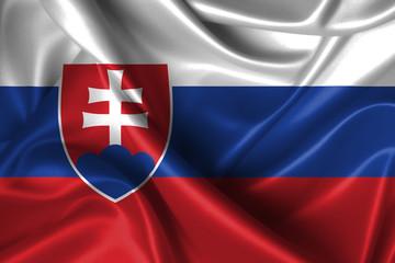 Wavy Flag of Slovakia