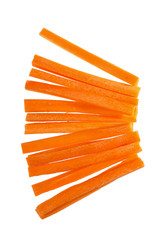 Fresh carrots sticks